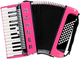 Hohner BRAVO II 48 DESIGN 2 CUSTOMIZED PINK