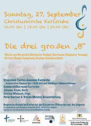 """Die drei großen """"B"""" - Beethoven, Brahms, Bernstein - 20.00 Uhr - Bernstein, Brahms, Beethoven"""