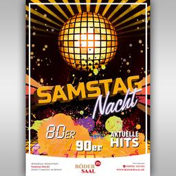 RöderSaal #rö1 Clubparty 70er/80er