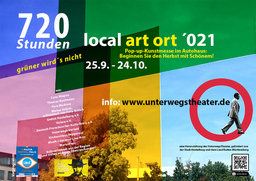 """Pop-up-Galerie """"local art ort - grüner wird´s nicht"""" // 720 Stunden"""