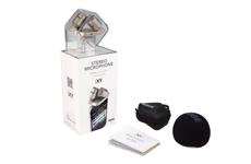 Professionelles Stereo-Aufsteckmikrofon für iPhone 4®, iPhone 4S®, iPad®, iPad2® und iPad3® mit robustem Vollmetallgehäuse