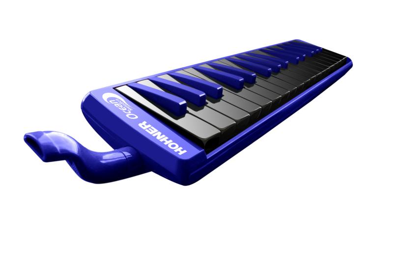 32 Tasten Farbe blau Melodica aus Kunststoff